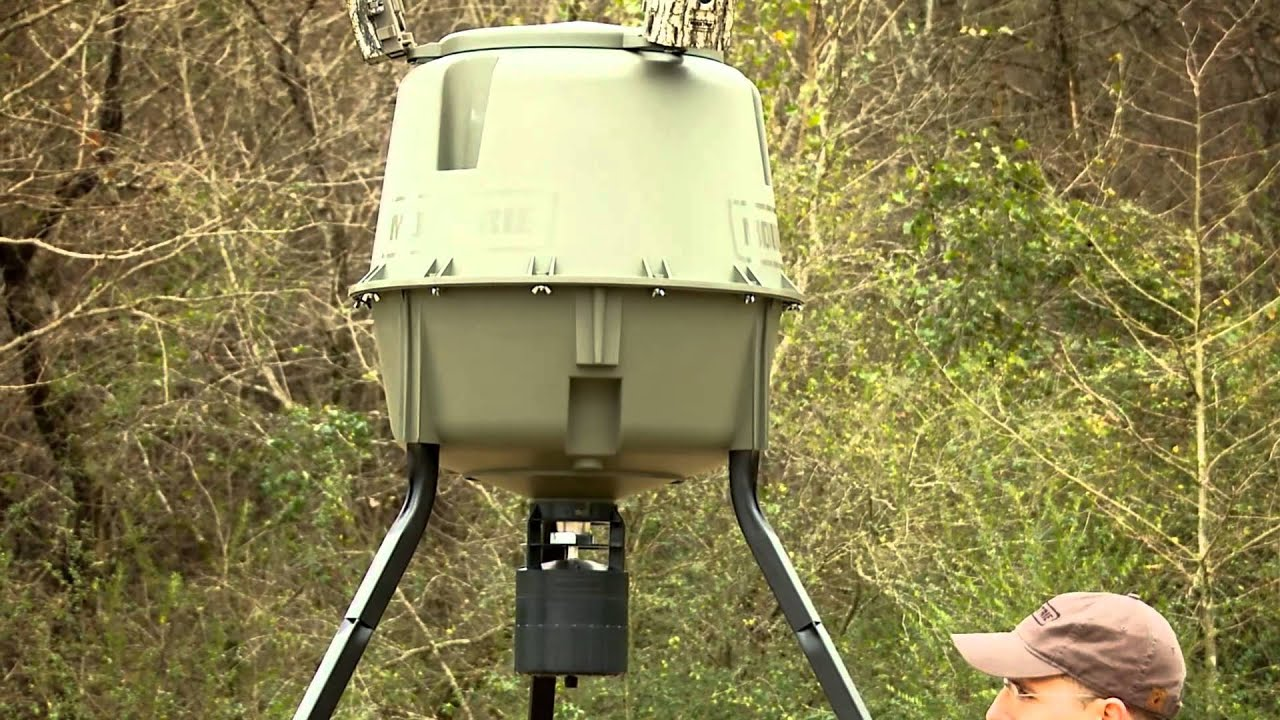 deer feeder watch moultrie tripod youtube elite