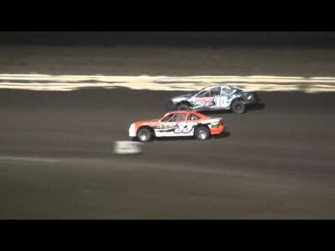 4th Annual Fall Extravaganza Night 1/ IMCA Stock Car B-Main Lee County Speedway 10/9/15