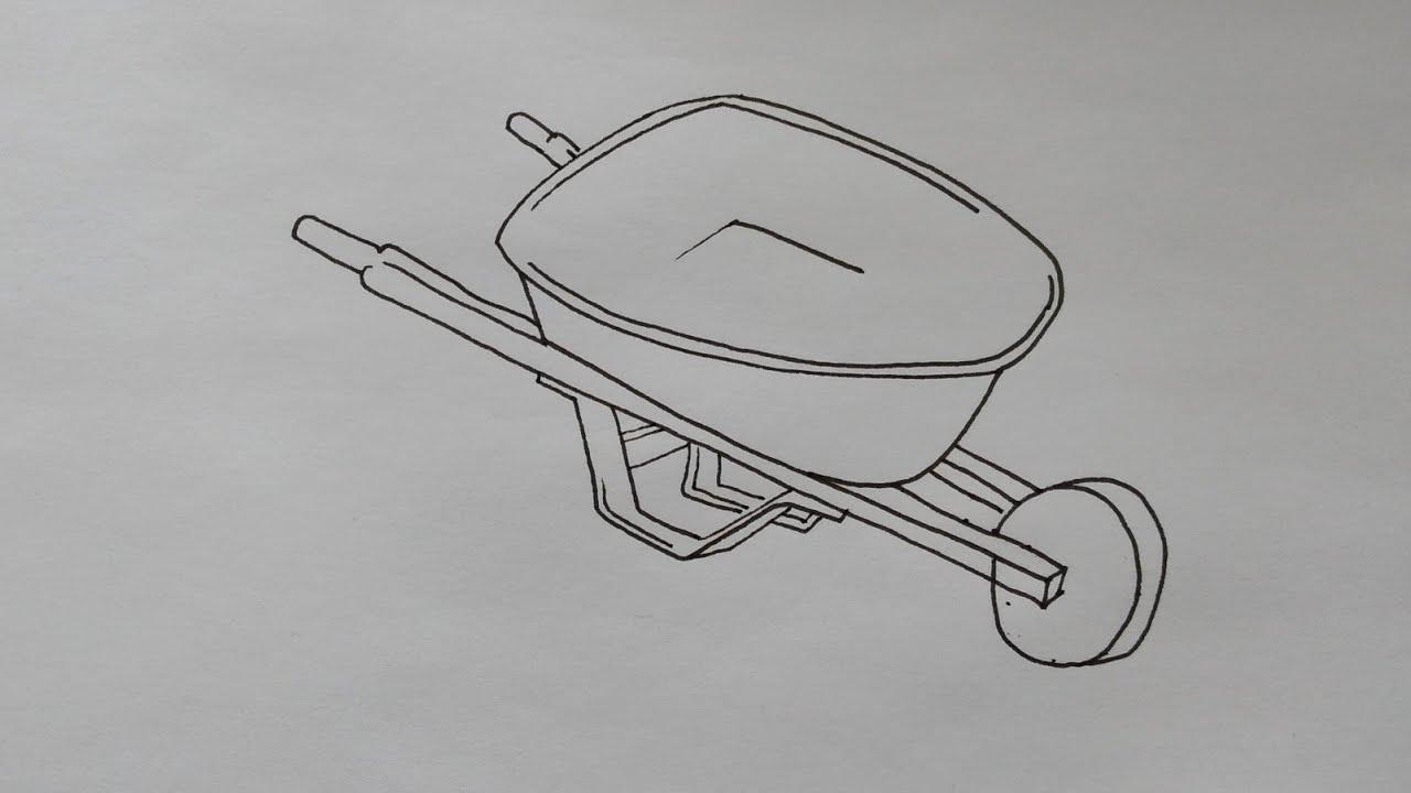 photo How To Draw A Simple Wheelbarrow how to draw wheelbarrow