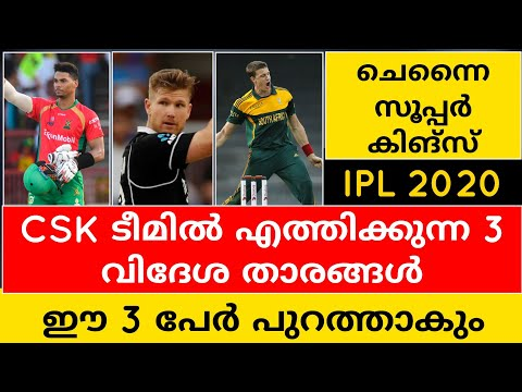3 OVERSEAS PLAYERS CSK COULD TARGET IN IPL 2020 | CRICKET NEWS MALAYALAM