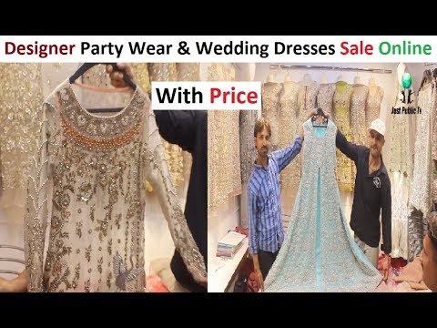 Designer Party Wear And Wedding Dresses Shopping Online || Rabi Center Tariq Road Cloth Market