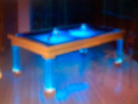 Neon Light Pool Table YouTube - Neon pool table