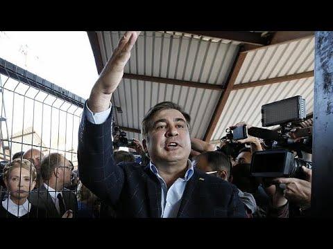 Mihail Saakaşvili Ukrayna'ya girmeyi başardı