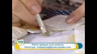 Patch aplique com pintura