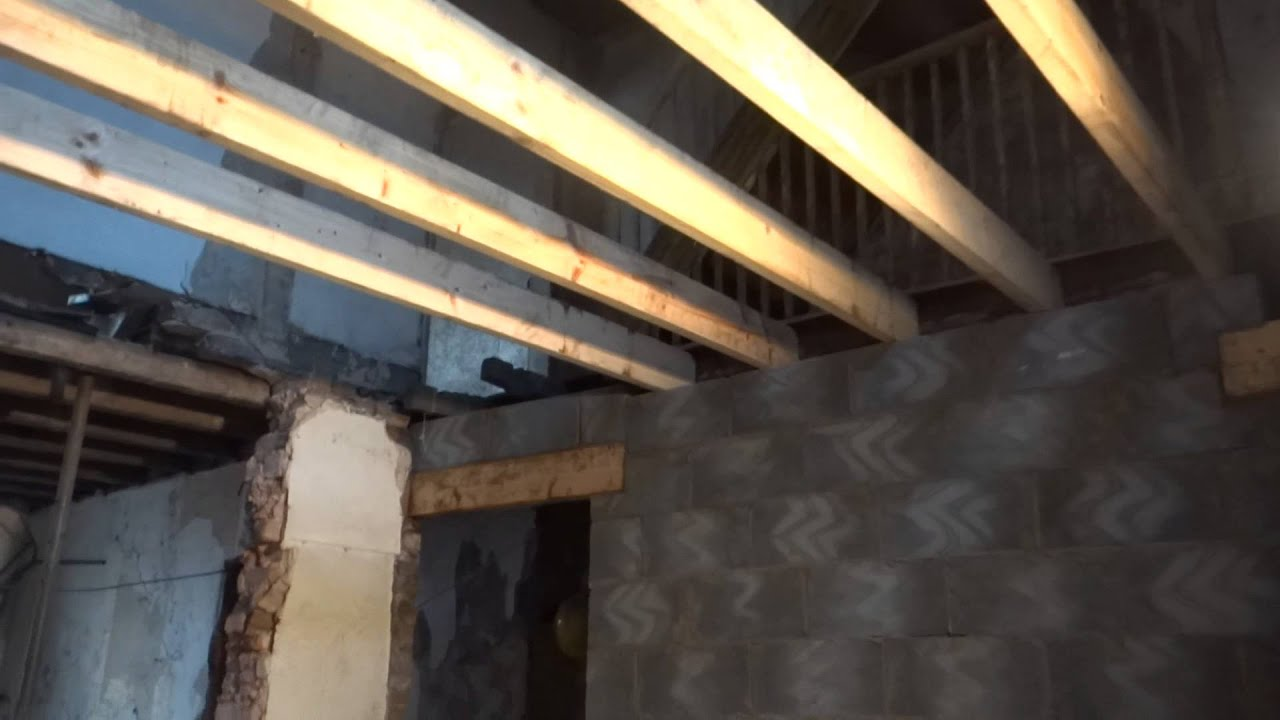 Floor Joists And Block Wall Diy First Time Buyers