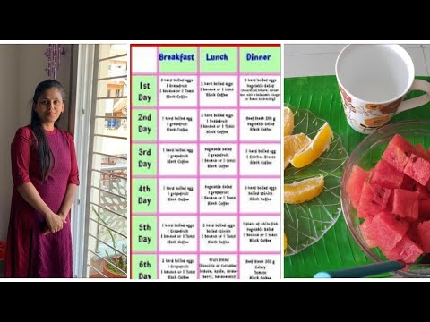 How to loose weight Fast? / GM diet plan/ Reduce 6 to 8 kg in 7 days / GM diet guide in Tamil