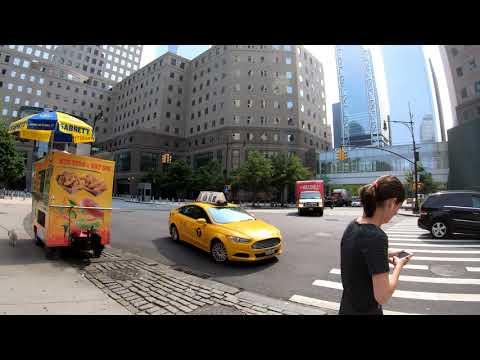 ⁴ᴷ⁶⁰ Walking NYC : Battery Park City, Manhattan (South End Avenue, North End Avenue, River Terrace)
