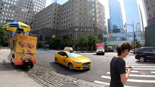 ⁴ᴷ⁶⁰ Walking NYC : Battery Park City, Manhattan (South End Avenue, North End Avenue, River Terrace)