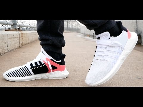 reputable site ff8f5 7803b Adidas White EQT Support 93/17 (Turbo Boost) Review & On Feet!! + I fixed  my DJI Phantom 4!