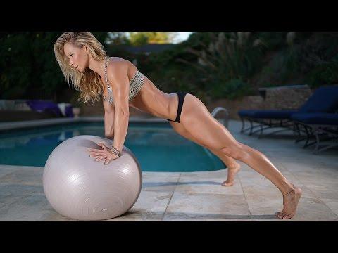 5 Minute Fat Burning Workout #96 - balance ball