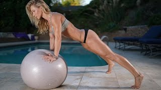 5 Minute Fat Burning Workout #96 - balance ball