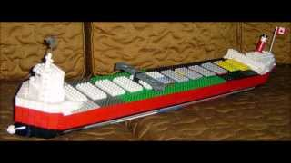 The construction of a unique Lego R/C cargo ship model. - Slide Show.
