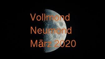März 2020 - die Schleier lüften sich - zum Vollmond am 9.3 und Neumond am 24.3. (ab min 10:30)
