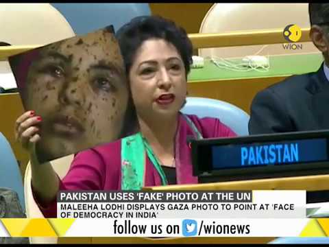 Download Youtube: Watch how Pakistan reacts to envoy using 'fake' picture at UN