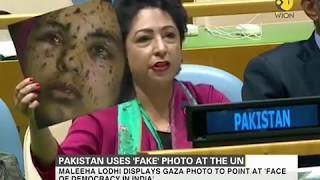 Watch how Pakistan reacts to envoy using 'fake' picture at UN