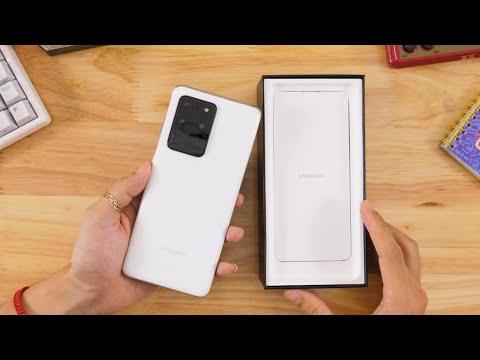 """Mở hộp Galaxy S20 Ultra """"full trắng"""" - trừ quà chỉ 17 triệu!"""