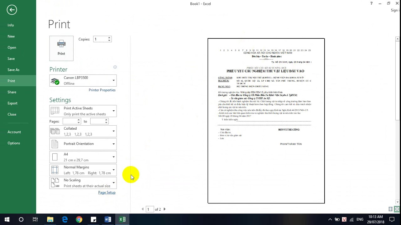 Biên bản nghiệm thu xây dựng Word to Excel Phần 1