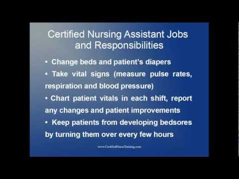 Certified Nursing Assistant Jobs And Responsibilities
