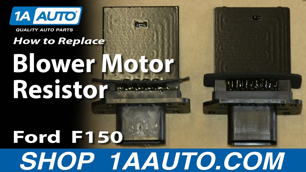 How To Replace Blower Motor Resistor 0410 Ford F150  YouTube