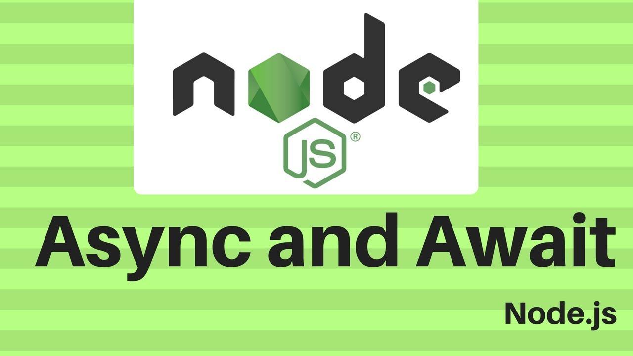 node js await