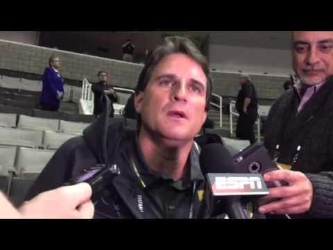 Mike Shula: Carolina Panthers Offensive Coordinator Interview #SB50