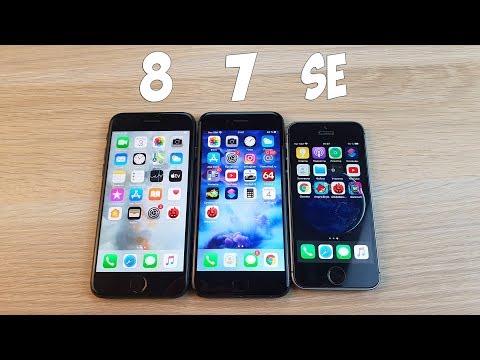 IPHONE 8 VS IPHONE 7 VS IPHONE SE - ТЕСТ В ANTUTU BENCHMARK