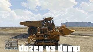 GTA V Ultimate Drag Races: Dozer vs Dump (Big Ass Truck)
