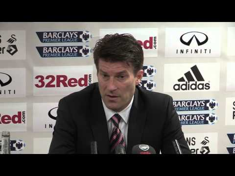 Swansea v Arsenal 0-2 | Laudrup post match interview | 16th March 2013