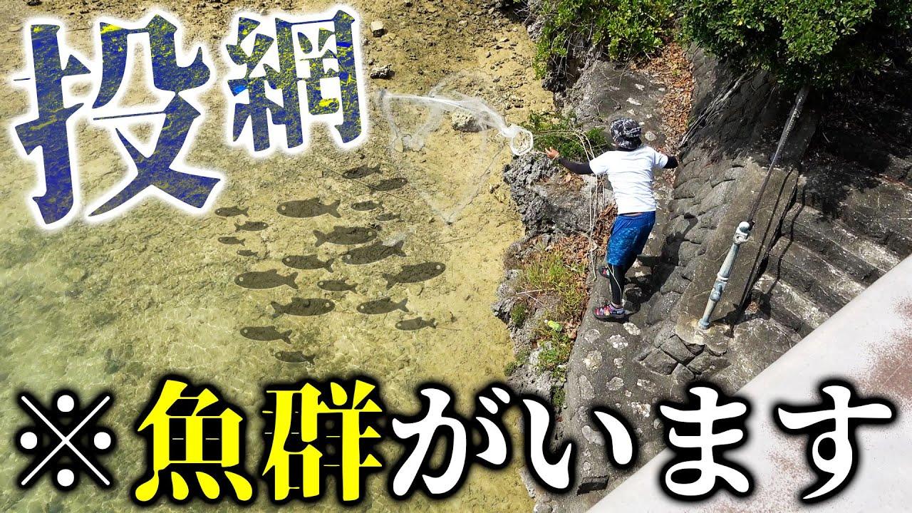 宮古島でGT釣れるまで帰れません企画始動!隠密投網で餌取り!【GT釣れるまで帰れませんin宮古島2021 #1】
