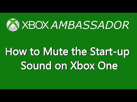 How to remove/mute the start-up chime on Xbox One | Xbox Ambassador Series