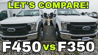 Ford's BIG BOY toys! 2019 F350 vs F450 vs F750 all together!