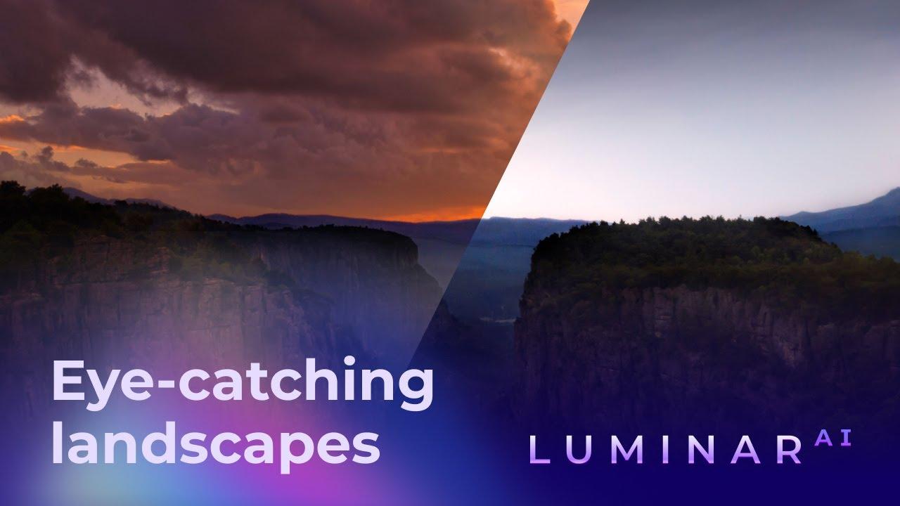 Un nuovo video mostra i potenti strumenti di modifica del paesaggio in Luminar AI