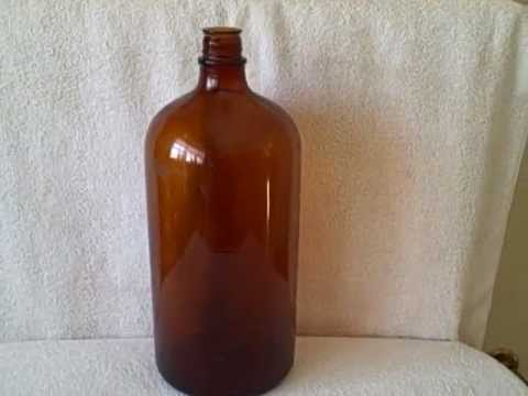 Vintage 1937 Very Large Illinois Glass Company Bottle Large Brown