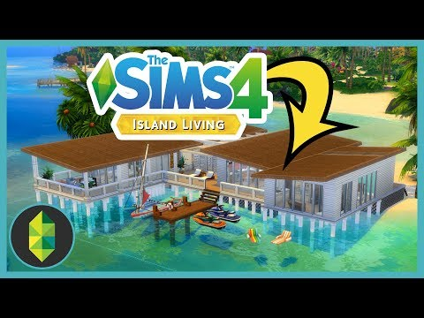 Building a beach house over the ocean in The Sims 4 Island Living!