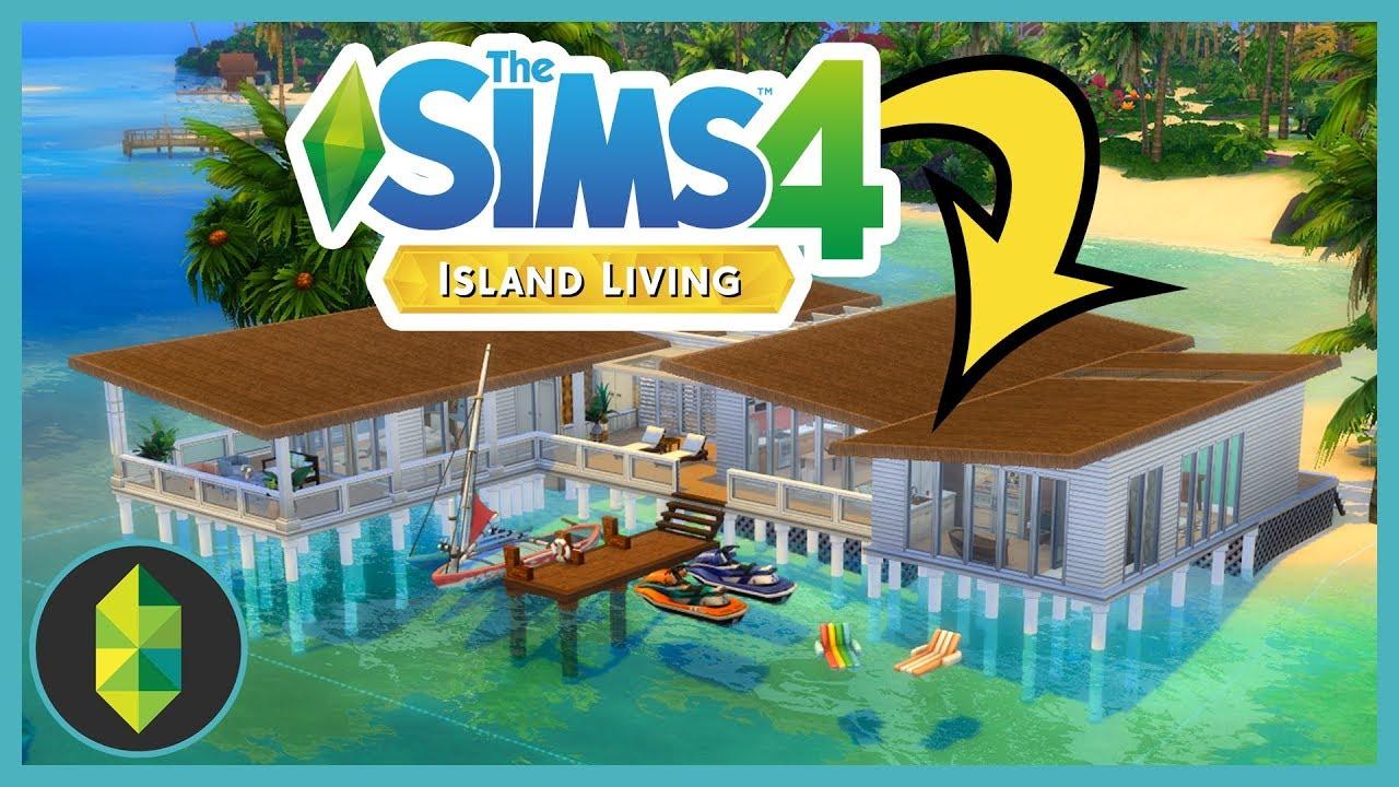Building a beach house over the ocean in The Sims 4 Island ...