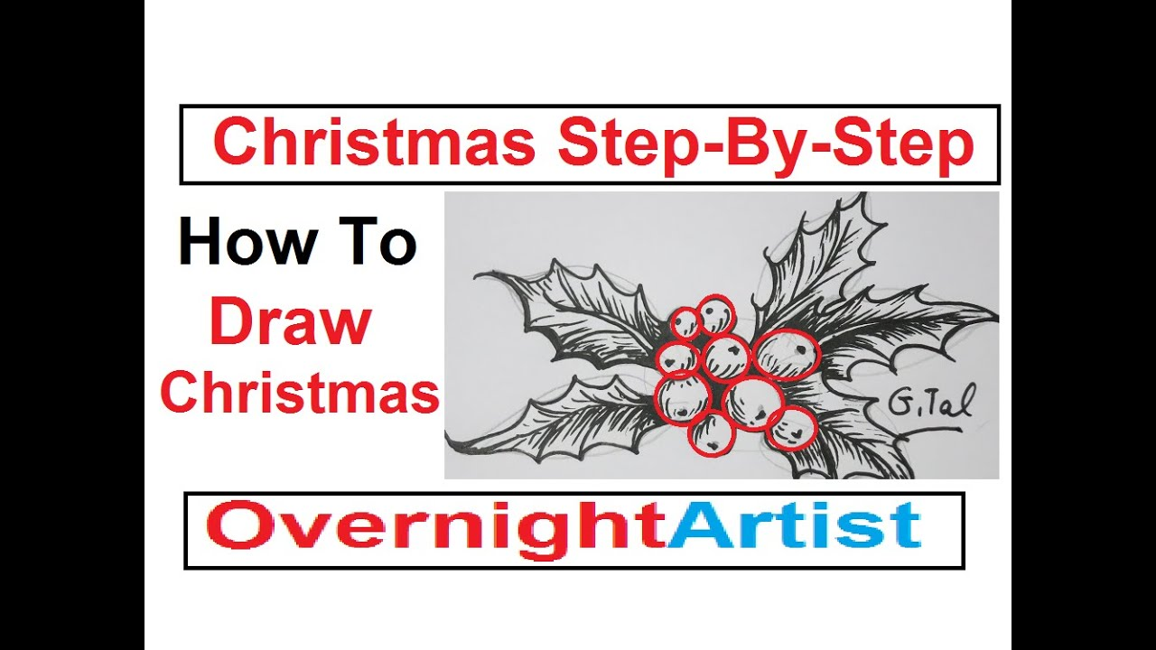 How To Draw Christmas - Card Ideas Step By Step - YouTube