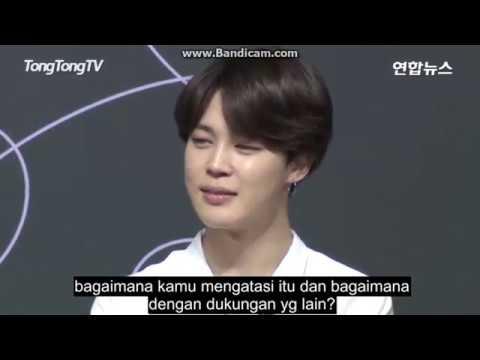 [TANGGAPAN JIMIN] 'FAKE LOVE' Press Conference LOVE YOURSELF 轉 Tear