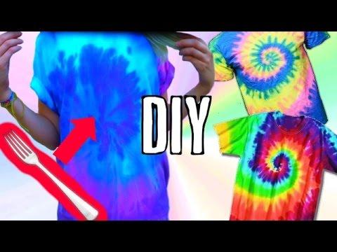 Diy Batik Shirt Selber Machen How To Tie Dye Youtube