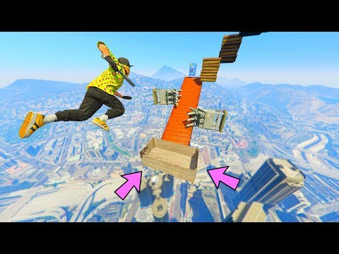 HOW I SURVIVED A 1500 FEET DROP! (GTA 5 Online Parkour)