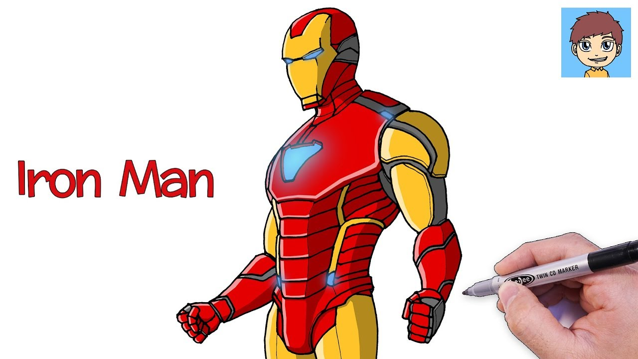 Comment Dessiner Iron Man Facilement Dessin Facile A Faire Dessin Avengers Endgame Youtube