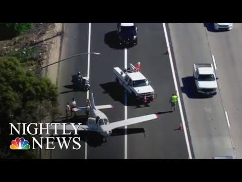 See Small Plane Lands On Highway!