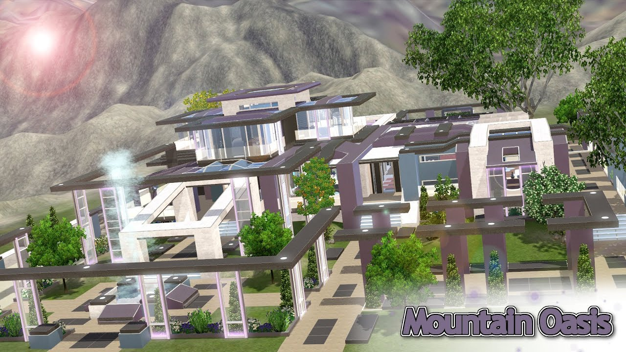 marvelous building a house in the mountains #4: The Sims 3 - House Building - Mountain Oasis - YouTube