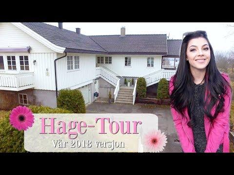Hage-tour!  Slik ser hagen ut nå!