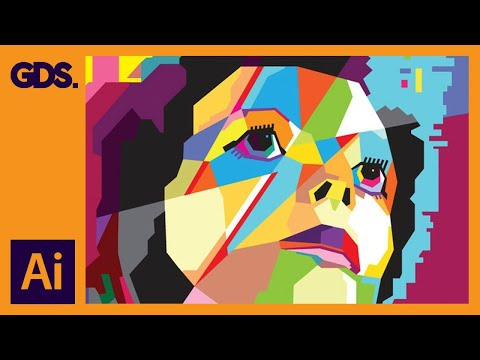 Create WPAP Style Art In Adobe Illustrator - Ziggy Stardust