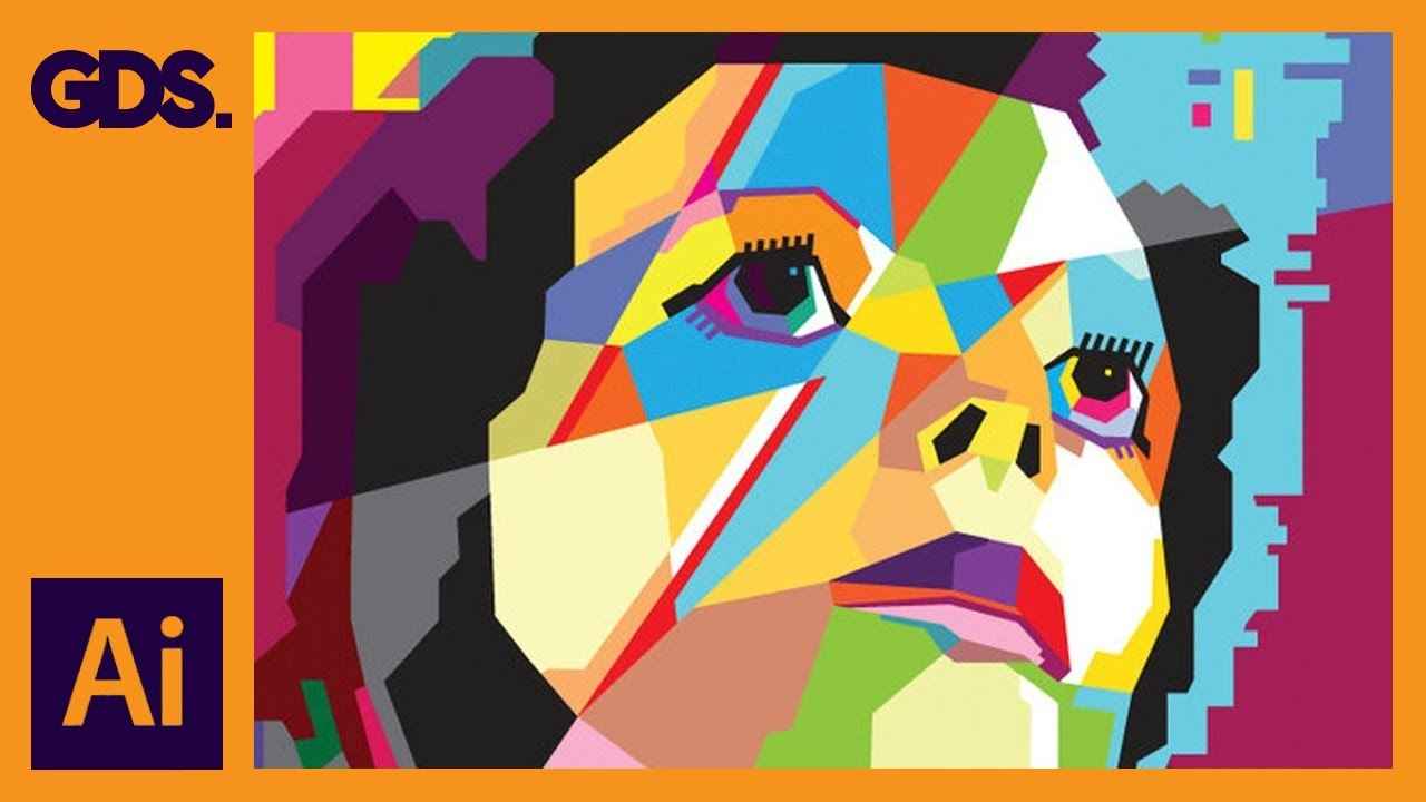 Create Wpap Style Art In Adobe Illustrator Ziggy Stardust