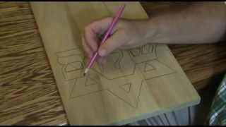 """shalom Star Carving""  Part 5 Of 11  Transferring The Design To The Wood"
