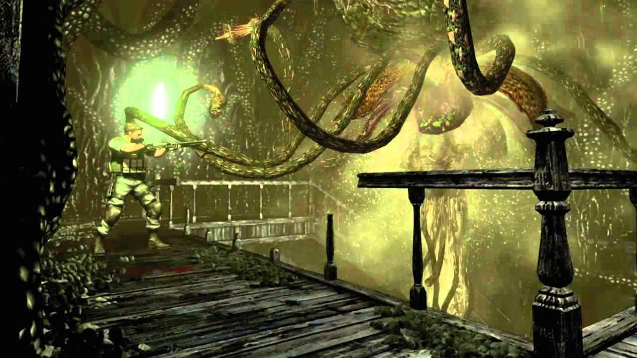 Resident evil remastered plant 42 boss battle chris for Plante 42 chris
