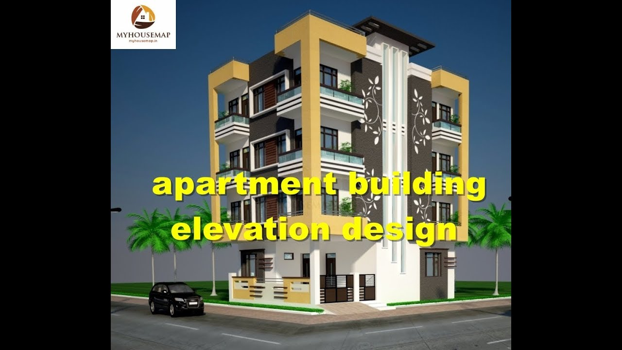 Front Elevation Of Multistoried Building : Apartment building elevation design multi storey best