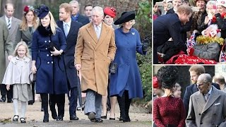 Prince Philip, Charles and Harry head out for Christmas church service at Sandringham
