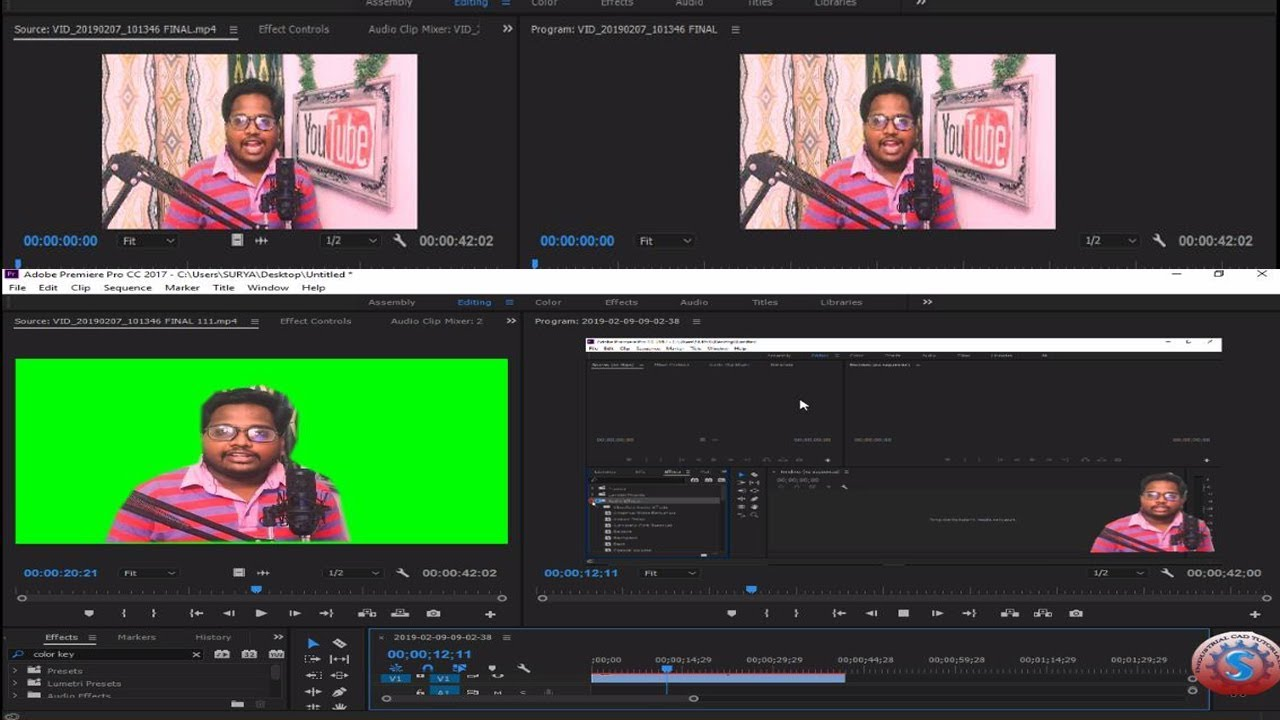 How I Remove Video Background Without Green Screen Adobe Premiere Pro Cc 2017 Youtube